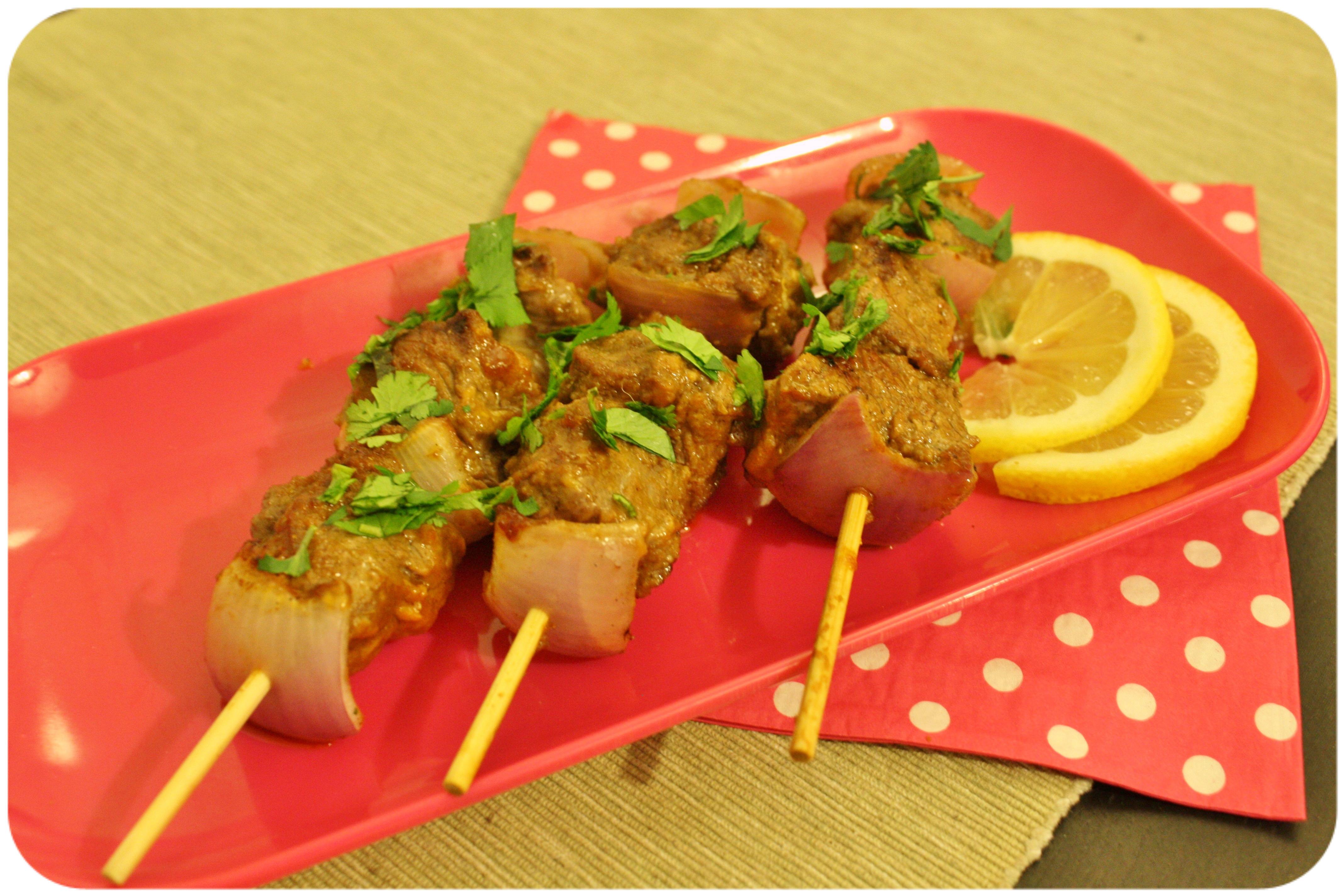 Brochettes de bœuf à l'indienne ♥ gingembre & ketchup Amora®