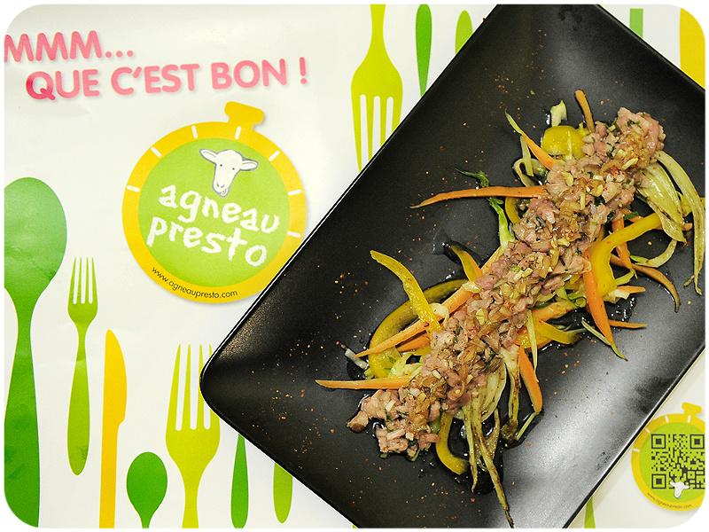 Tartaki d'agneau { Joute culinaire & Concours inside }