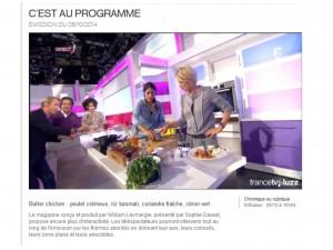 2 recettes, 2 émissions de TV {France 2}