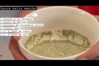 Sauce raïta menthe {Vidéo Cook In The Tube}