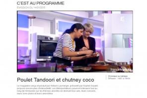 Chronique cuisine pour France 2 {C'est au programme!}