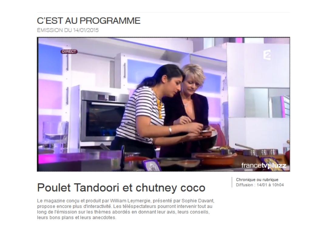 Chronique cuisine pour france 2 c est au programme - C est au programme recettes de cuisine ...