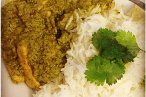Un curry vert indien, doux et parfumé