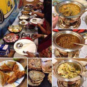 Déjeuner végétariien Chez Kajal du blog Aapplemint
